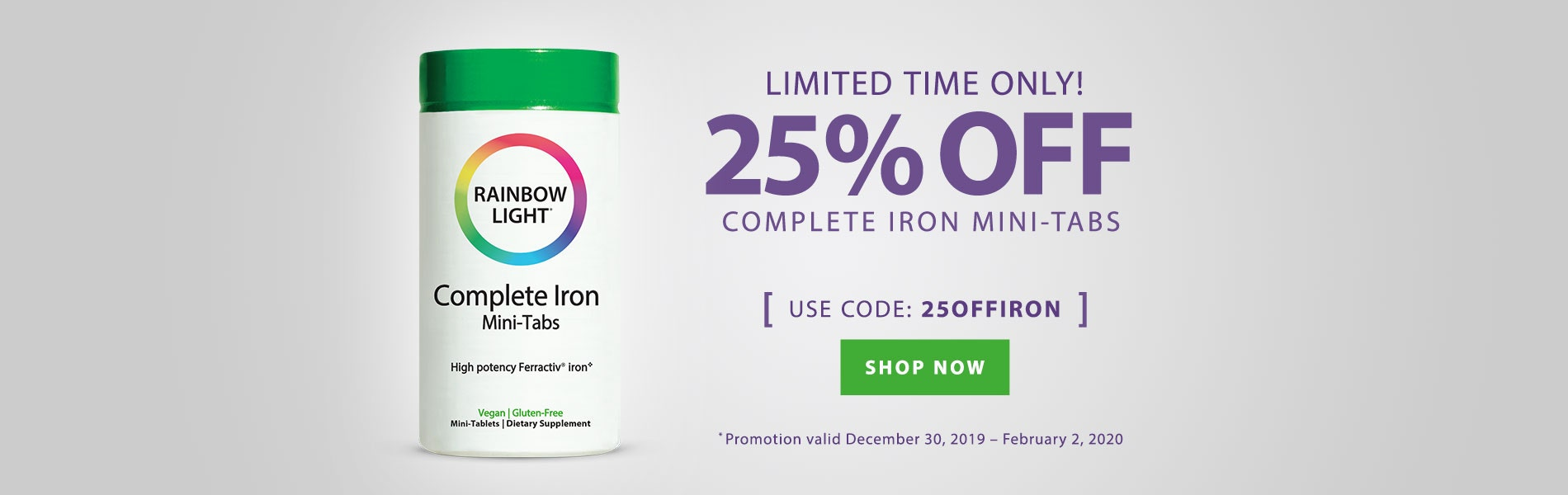 25% OFF Complete Iron Mini-Tabs